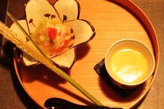 Chawanmusi&cucumber,fish spawn,chicken with Japanese dressing At Chiso IIDA # WASHOKU(和食)