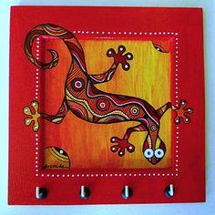 """Caribbean"" Tableaux Wal Art, India Art, Colorful Animals, Australian Art, Paintings I Love, Naive Art, Funky Furniture, Aboriginal Art, Paint Designs"