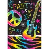 Neon Birthday Invitations 8ct - Party City