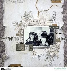 """""""LOVE"""" a Pen and Ink Layout Tutorial by Renee Aslette - Kaisercraft Official Blog"""