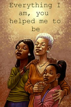 A Mother's Love and Blessings. Black Love Art, Black Girl Art, Black Is Beautiful, Black Girl Magic, Black Girls, Black Women Quotes, Inspirational Quotes For Women, Uplifting Quotes, African American Art