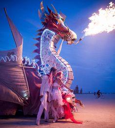 Interdimensional Kiss, Shaman Wedding, Burning Man 2016, The Phoenix Dragon of Fire, Twin Flames