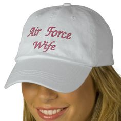Air Force Wife hat for sale from my online store :)