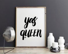 Yas Queen funny gift  Yas Kween Funny Print by StyleScoutDesign