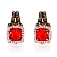Le Vian Fire Opal Earrings