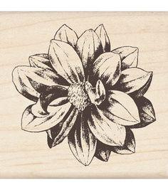 "Mounted Rubber Stamp 2.25""X2.25""-Medium Flower"