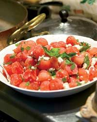 Watermelon Salad with Feta and Mint // More Great Summer Salads: http://fandw.me/VB8 #foodandwine