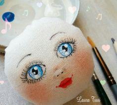 Work in progress www.facebook.com/fattoconamorelaura #blueeyes #doll #handmadewhitlove #handmade #bambole #creativemamy #lemaddine #mvcreativemamy
