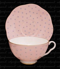 very 1950's pink tea cup and saucer wedgewood♥