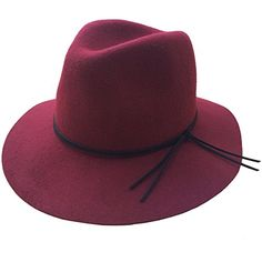 391dffae18f D-ling Women s Panama Fedora Hat 100% Wool (Black)
