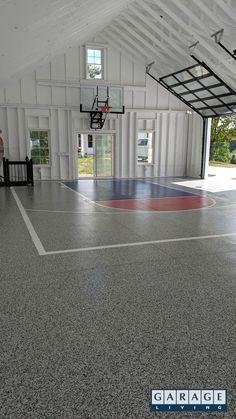 Custom project - indoor basketball court - Garage Wish list Pole Barn House Plans, Pole Barn Homes, Garage Plans, Pole Barn Garage, Home Basketball Court, Custom Basketball, Sports Court, Basketball Players, Basketball Uniforms