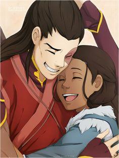 Cuteness overload! For people who don't like Zutara, this looks like a friendship hug.