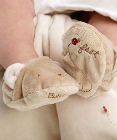 Bear Feet...Furry little slippers with a squeaker!