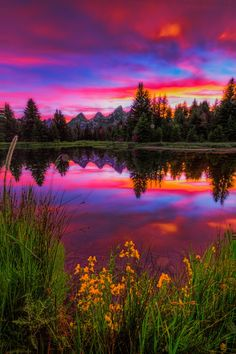 Photograph Jackson Hole, WY Beaver Dam Sunset by Jerry Patterson ~THESE ARE ACTUAL COLORS AT SUNSET IT WILL TAKE YOUR BREATH AWAY!