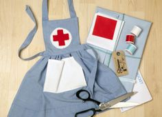 Learn to Sew Nurse's Apron Sewing Kit for Beginners. This is adorable! I need this, a lab coat and some other stuff for dr bin