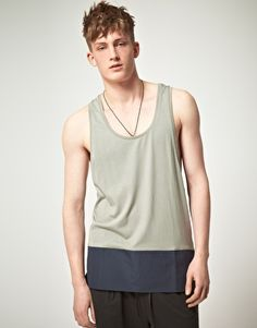 asos black / tank with contrast panel / $39.39