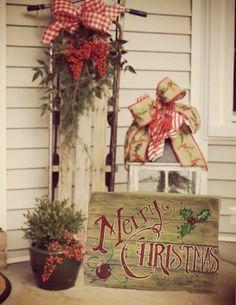 SALE Merry Christmas pallet sign decoration hand made Was Christmas Pallet Signs, Primitive Christmas, Outdoor Christmas, Country Christmas, Winter Christmas, All Things Christmas, Christmas Holidays, Christmas Decorations, Christmas Porch