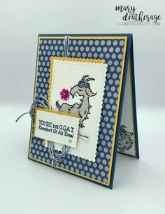Bee Cards, Stamping Up Cards, Fun Challenges, Panel Art, Kids Cards, Greeting Cards Handmade, Paper Dolls, Goats, Stampin Up