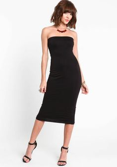 Seamless Strapless Midi Dress | Products, Midi dresses and Dresses