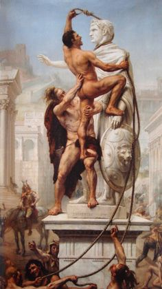 Joseph-Noël Sylvestre (French 1847–1926) [Academicism, Neoclassicism, Romanticism] The Sack of Rome by the barbarians in 410 (1890).