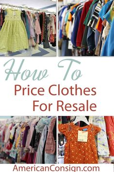 """Do you buy or sell clothes at Kids Consignment Sales? In this tagging tip, I discuss exactly what """"25-30% of retail"""" means. Especially when it comes to determining a price for gently used designer and boutique clothes. Thrift Store Outfits, Thrift Store Shopping, Resale Store, Thrift Stores, Online Thrift, Shopping Hacks, Resale Clothing, Used Clothing, Kids Clothing"""