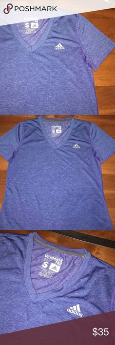 Adidas ultimate tee pretty periwinkle n nice fit Brand new , strong material that last long and fits very flattering too Adidas Tops Tees - Short Sleeve