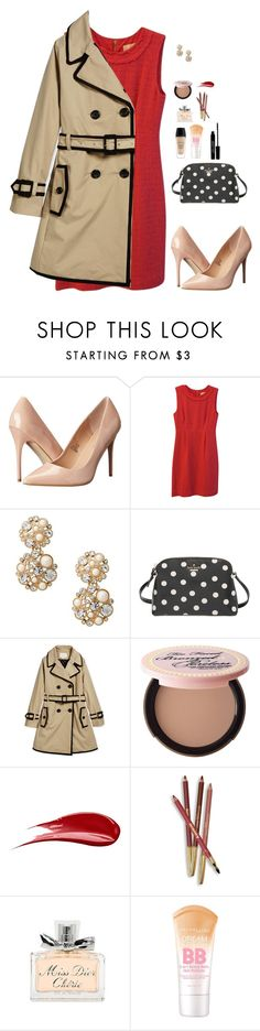 """""""Christmas Party- Set 1 Example Sets"""" by sc-prep-girl ❤ liked on Polyvore featuring Madden Girl, Kate Spade, Too Faced Cosmetics, Hourglass Cosmetics, Sisley Paris, Christian Dior, Lord & Berry and twelvedaysofchristmas2k15"""