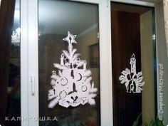 Интерьер Новый год Вырезание Окна Бумага