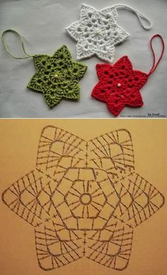 Transcendent Crochet a Solid Granny Square Ideas. Inconceivable Crochet a Solid Granny Square Ideas. Crochet Snowflake Pattern, Crochet Stars, Crochet Motifs, Christmas Crochet Patterns, Holiday Crochet, Crochet Snowflakes, Crochet Diagram, Crochet Doilies, Crochet Flowers