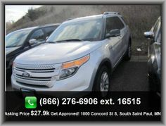 2012 Ford Explorer XLT SUV  Air Conditioning, Power Brakes, Tilt Steering Wheel, Front Wheel Drive, Automatic Transmission