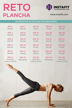 Abdomen marcado en 30 días con esta rutina de ejercicios de plancha.: