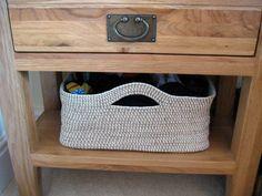 Crochet custom size basket for your home