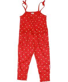 Super combinaison rouge avec papillons par Baba Babywear. baba-babywear.fr.emilea.be