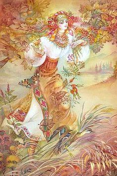 Hutsul Autumn , painting by Starovoitova ,Ukraine, from Iryna with love