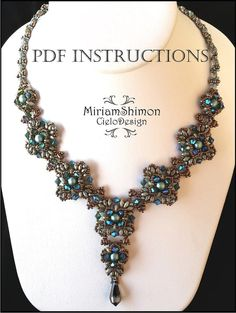 Here is the festive Atila necklace tutorial! A necklace made with individually stitched components and a comprehensive detailed explanation on how to put it all together. For this project you will need: Superduo Seed beads 11/0 Seed Beads 15/0 Seed Beads 8/0 Pearls size 6 Swarovski crystals 4mm This is an instant PDF tutorial for downloading as soon as payment goes through! Have fun