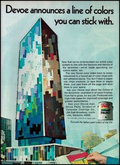 1971 Devoe Paint Original Vintage Print Ad Art Awesome Illustrated Advertisement | eBay