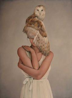 brown - woman with bird - owl - painting - Amy Judd Texture Photography, Art Photography, Illustrations, Illustration Art, Bird People, Bodies, Photocollage, Graffiti, Owl Art