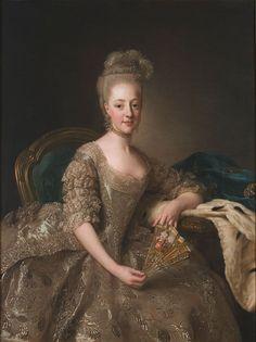The Athenaeum - Portrait of Hedwig Elizabeth Charlotte of Holstein-Gottorp (Alexander Roslin - )  1774
