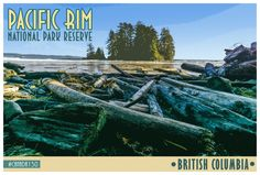 Pacific Rim National Park Reserve Retro Advertising