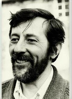 Portrait JEAN ROCHEFORT barbu, photo vintage 1975