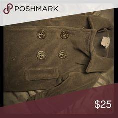 Baby boy pea coat Brown fleece pea coat. Excellent condition. Never worn Jackets & Coats Pea Coats