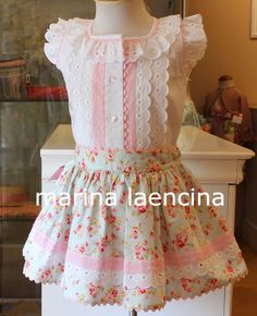 Marina Laencina: abril 2015 Frock Patterns, Baby Girl Dress Patterns, Baby Girl Dresses, Frocks For Girls, Tutus For Girls, New Baby Dress, Dress Anak, Kind Mode, Kids Outfits