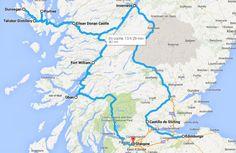 El Castillo Eilean Donan se ubica en una pequeña Isla al Noroeste de  Escocia.