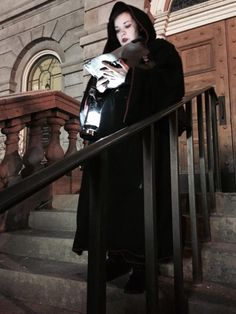 Ghost Walk guide Megan welcomes guests on Earth Hour Ghost Walk in Downtown St. Catharines - March 2015