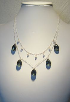 Necklace - Sterling silver with quartz and moon stone