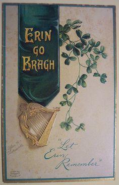 Saint Patrick's Day Irish postcard