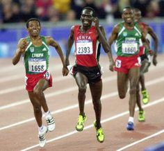 Haile Gebrselassie and Paul Tergat