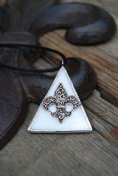 Fleur de Lis Jewelry Fleur de Lis Necklace by BayouGlassArts, $34.00