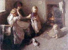 Laura Knight - Dressing the Children