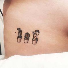 21 Cool and Trendy Tiny Tattoo Ideas: #6. CUTE CACTI TATTOO; #tattoos